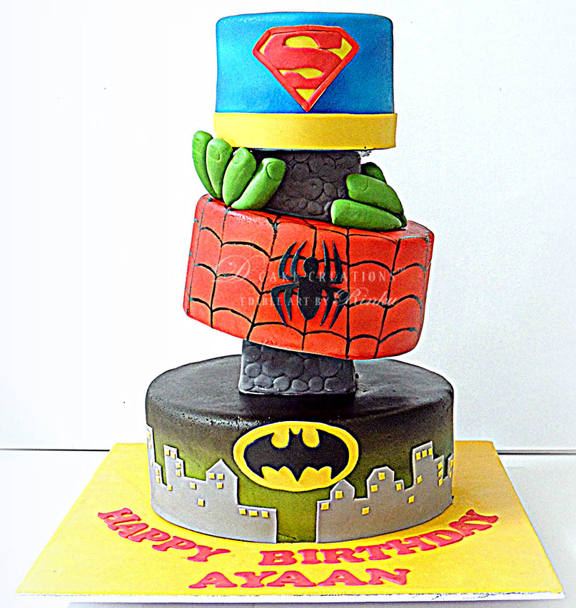 SuperHeroes Whimsical Cake