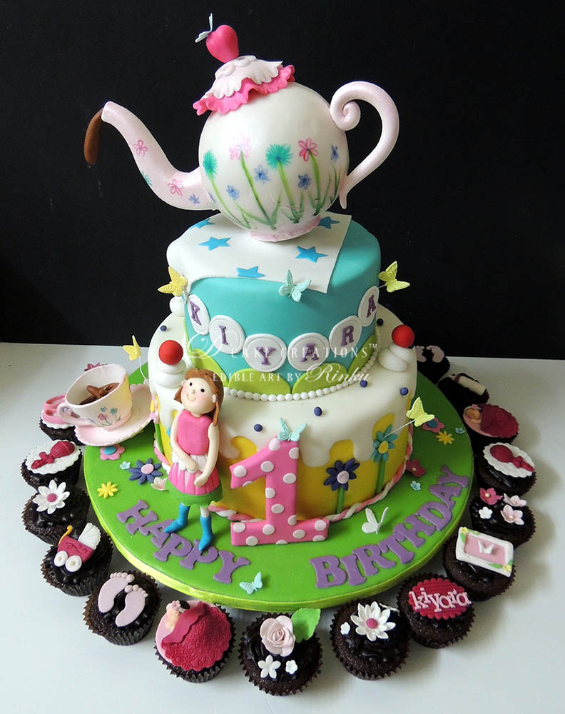 Whimsical Teapot Cake