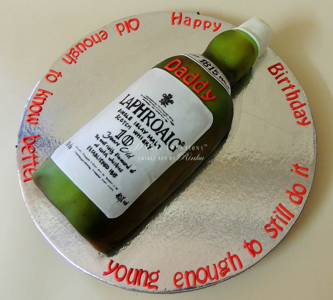 Islay Malt Whisky Bottle Cake