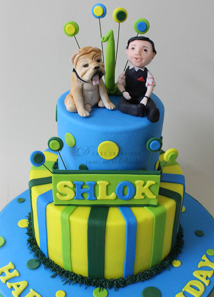Bulldog Topper Cake