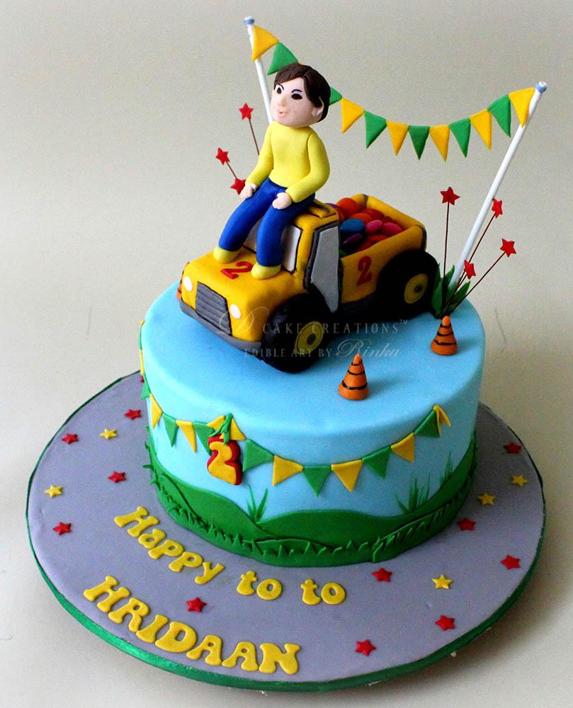 Mini Tractor Cake