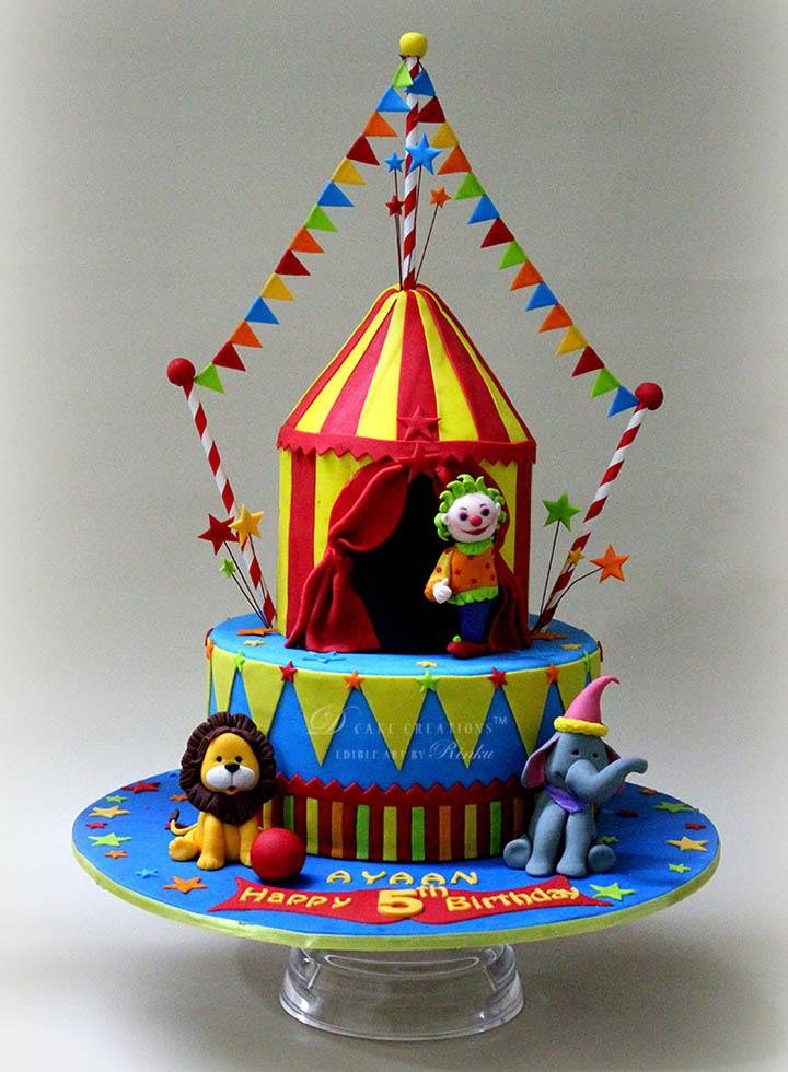 Circus Theme Cake