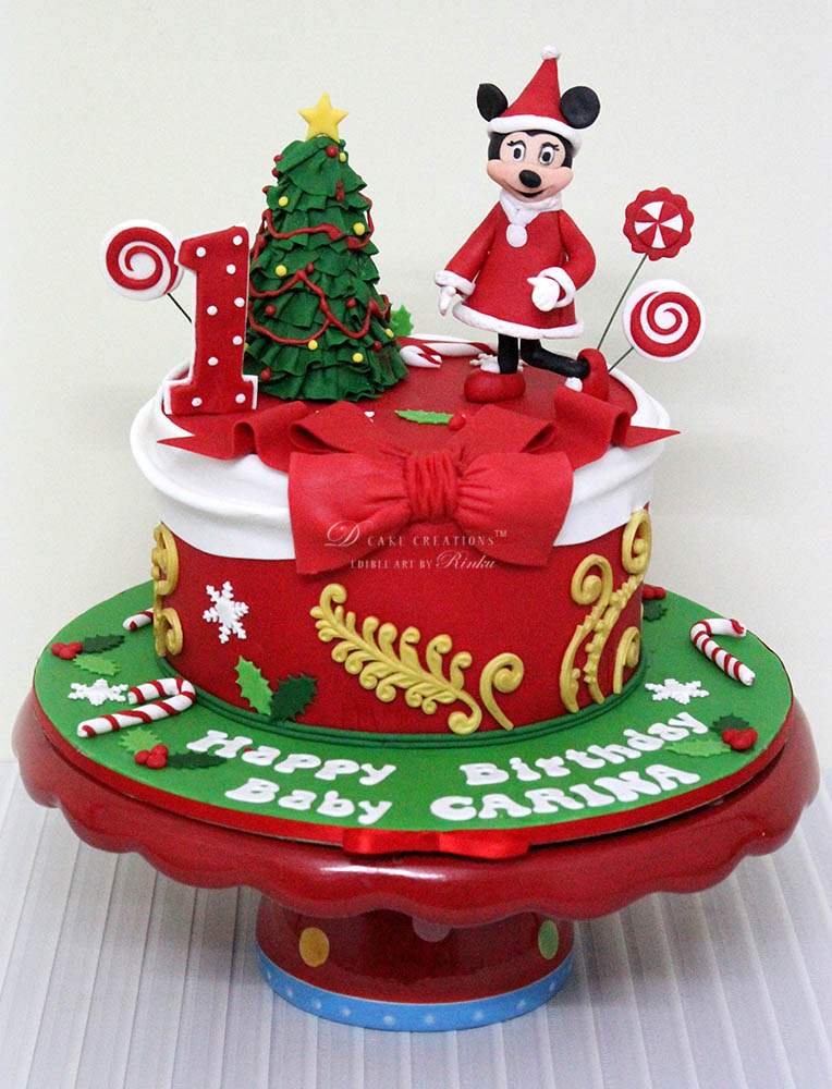 Christmas Theme Birthday Cake
