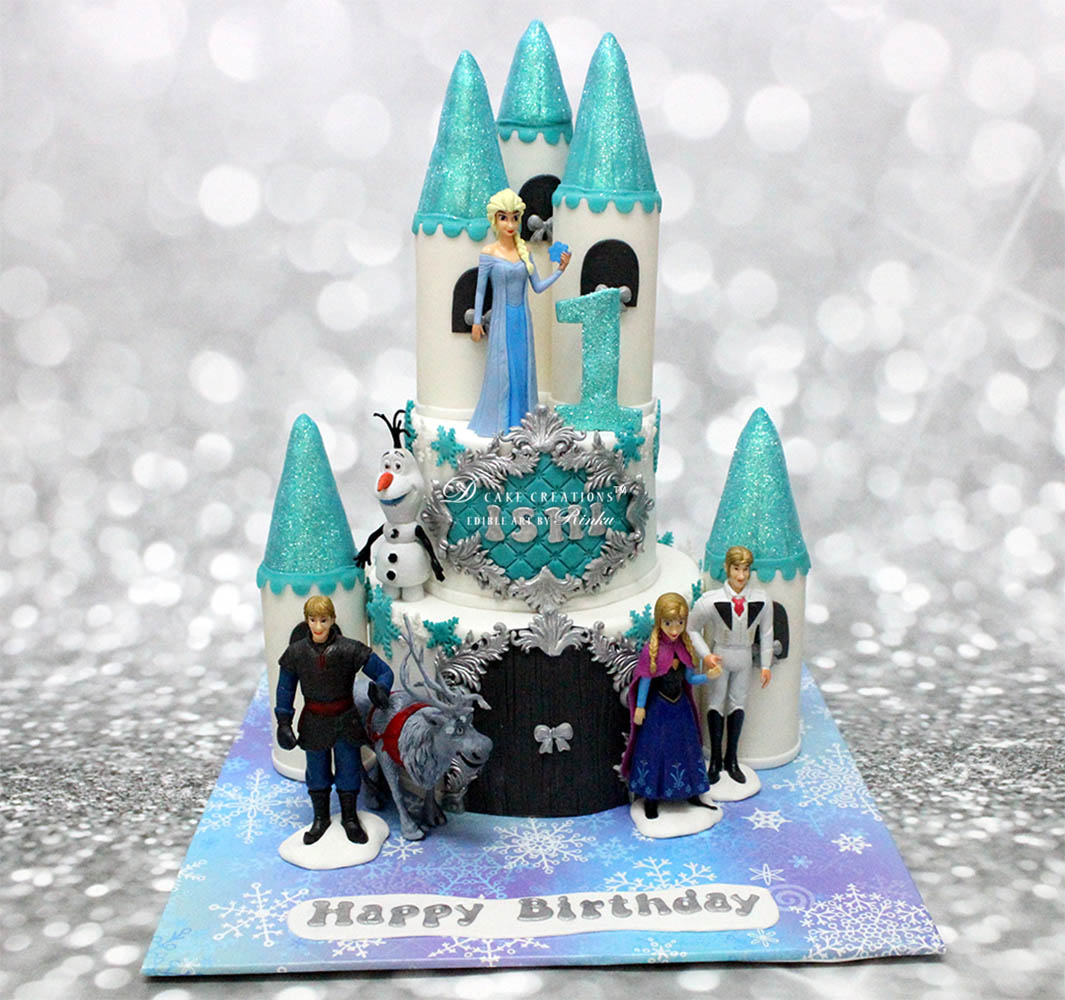 Frozen Theme Castle Cake