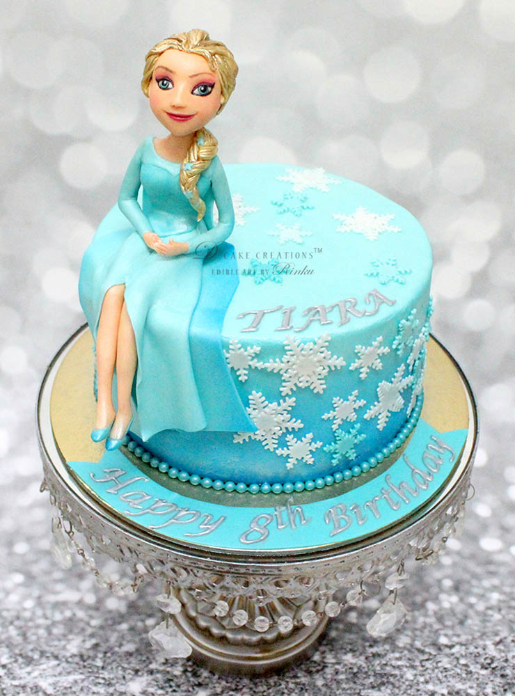 Princess Elsa Topper Cake