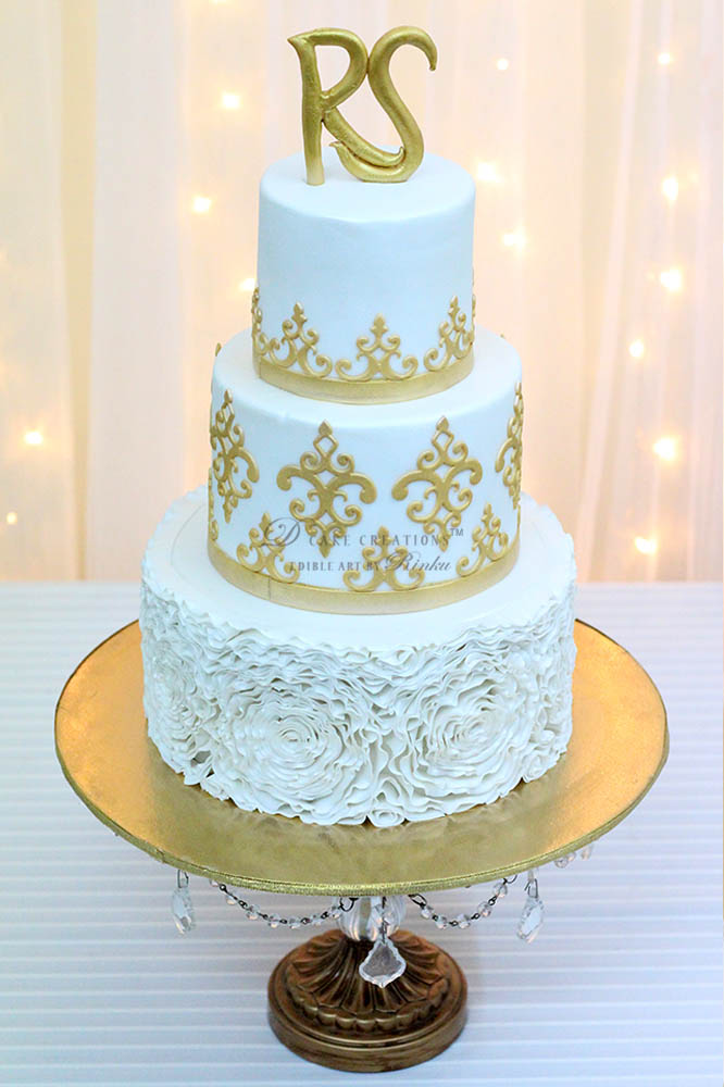 Rose Ruffles Cake