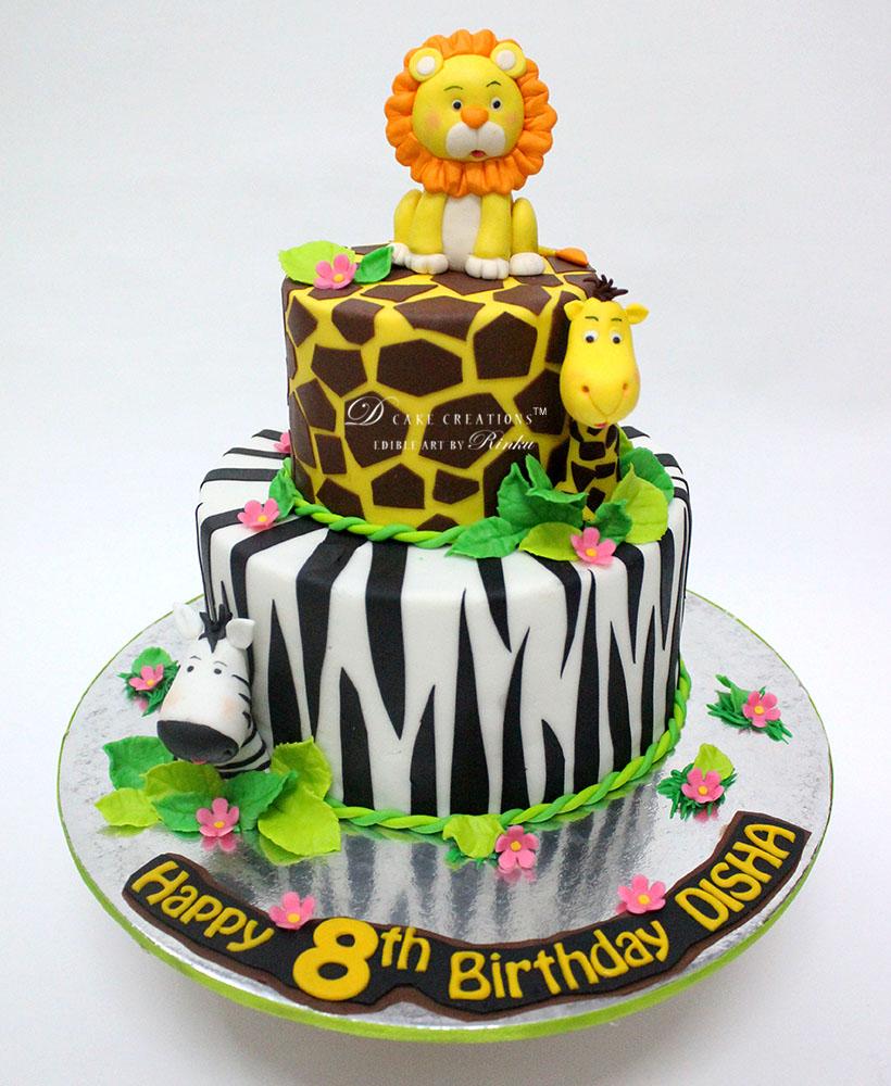 Cute Animal Topper Cake