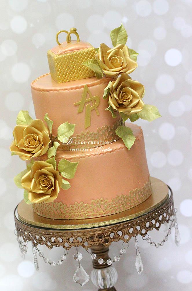 Ring Topper Pink Cake
