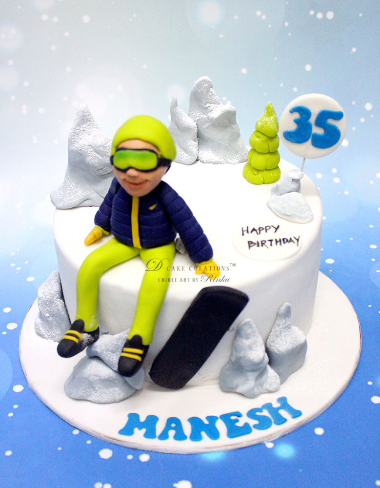 Snow Board Cake
